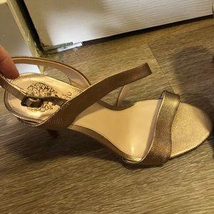 Gold/bronze heels
